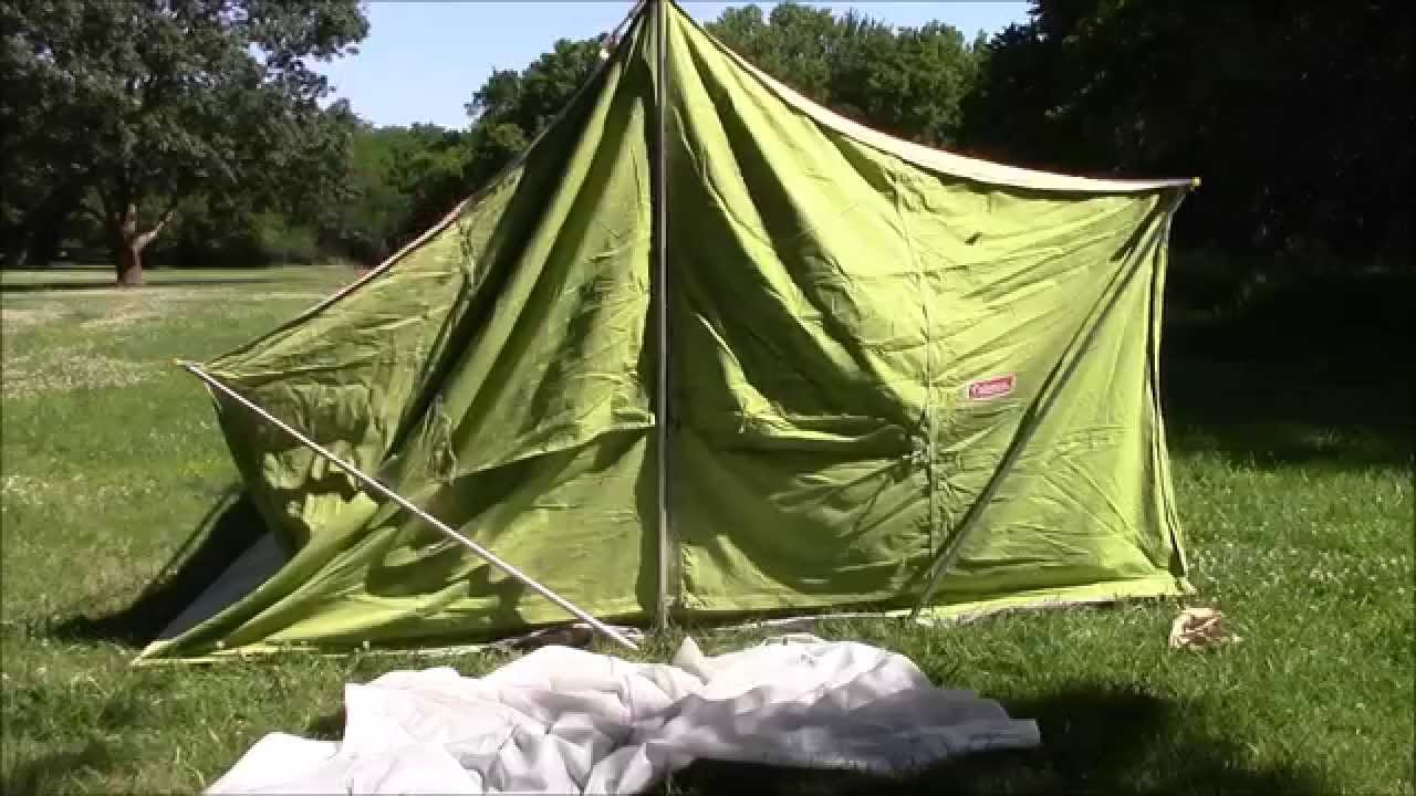 Coleman American Heritage Vintage 1972 Canvas Tent Set