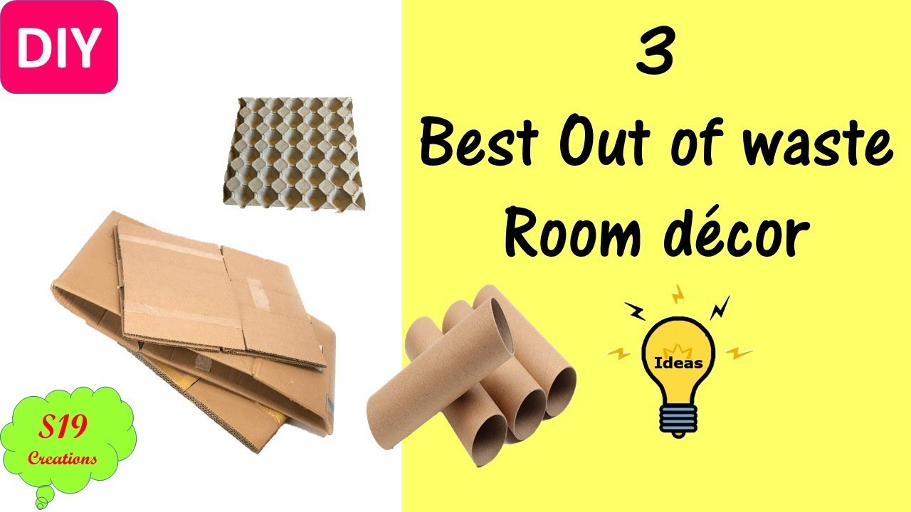 3 best out of waste ideas | Room decor | cool ideas you should know ...