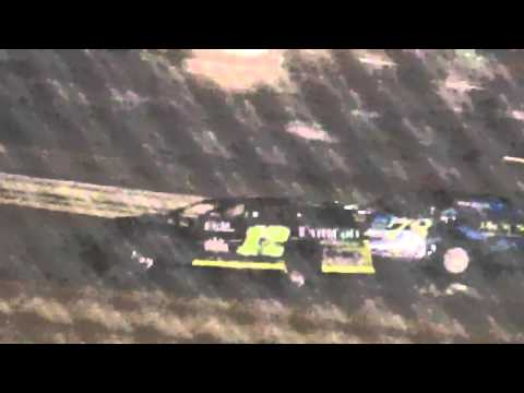 Ark La Tex Speedway ZERO Cancer Night Modified A feature part 1 4/2/16