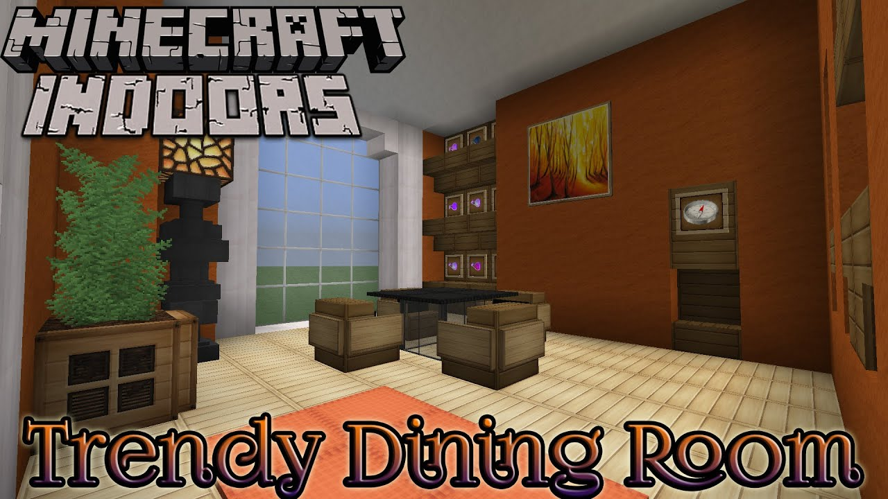 Minecraft indoors interior design trendy dining room for Dining room designs minecraft