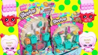 SHOPKINS GIANT SURPRISE TOYS OPENING Alltoycollector Grandma Open New 12 & 5 pack Blind bags