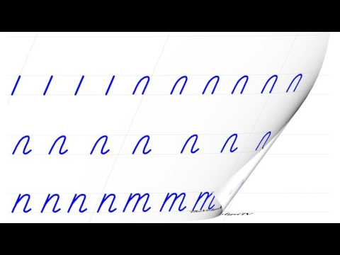 Русский алфавит. Пишем красиво. Буква П. Буква Т. Russian Handwriting.