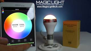 İçin MagicLight bluetooth hoparlör ampul kurulumu nasıl