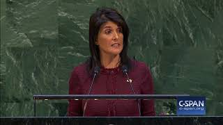 Nikki Haley at UN General Assembly on America embassy in Jerusalem (C-SPAN)