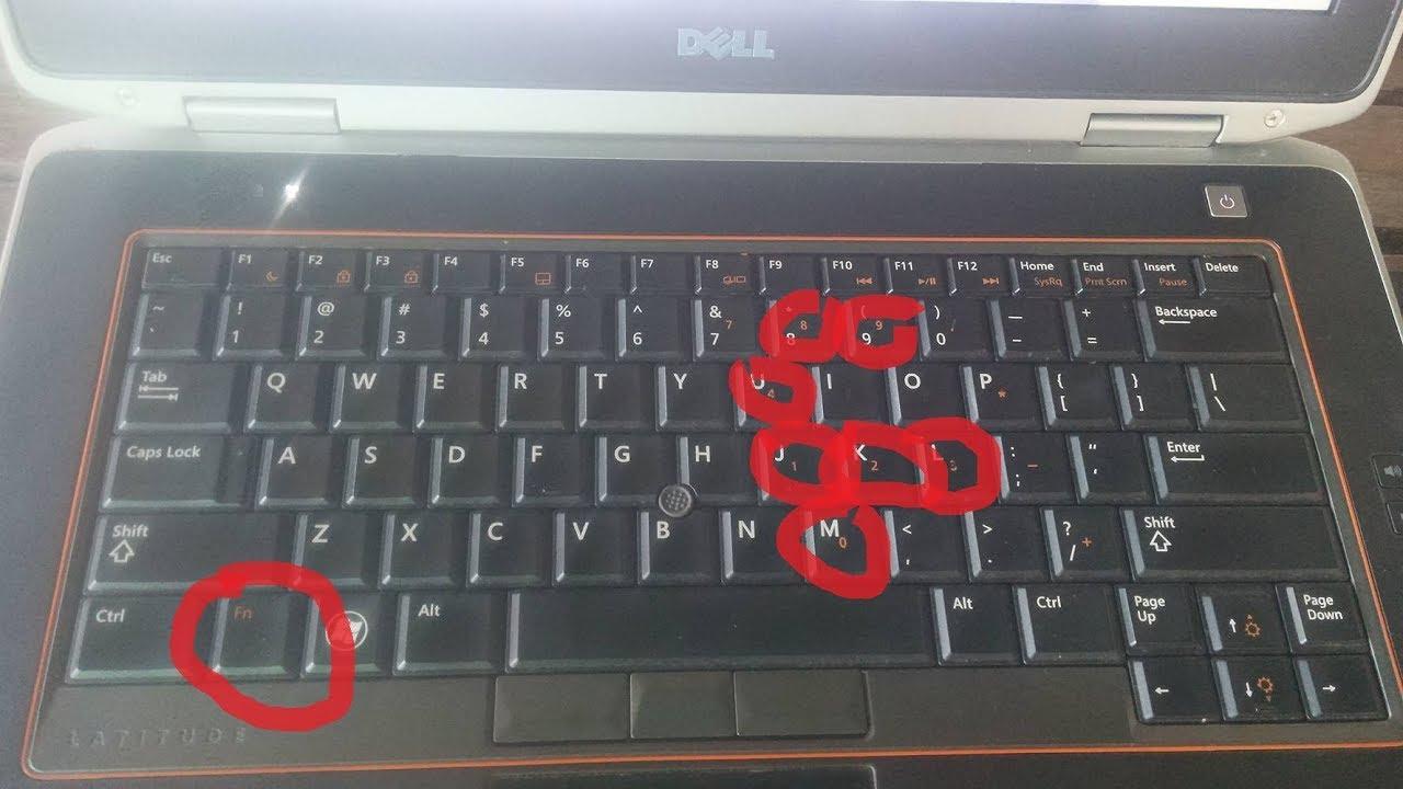 how to unlock dell laptop keyboard