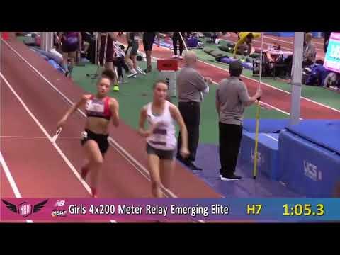 Natick High School Girls 4x200 - 2018 Indoor Nationals