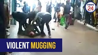 WATCH: Violent mugging near Joburg high court caught on CCTV