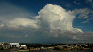Sky Timelapse of Cumulonimbus Clouds with Lightning