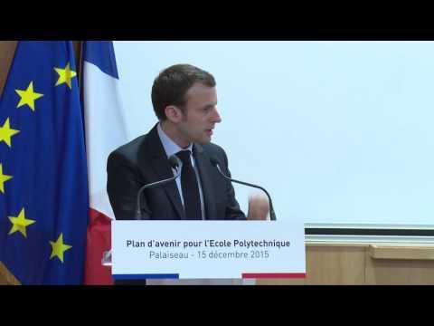 Intervention d'Emmanuel Macron, ministre de l'Économie, à l'École polytechnique