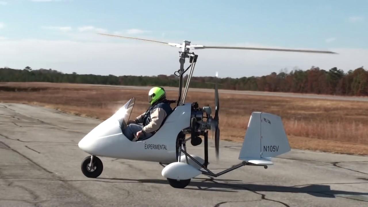 Tango 01 gyroplane flying