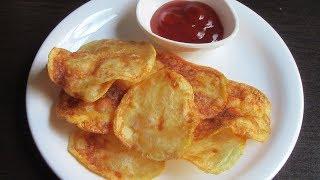 Homemade Potato Chips Recipe   Crispy Potato Chips Recipe   Potato wafers