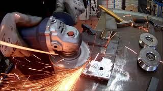 Curvatrice Calandra a Rulli da Morsa Fai Da Te Homemade Bending Rolling Calender Machine
