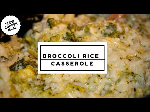 Simple Slower Cooker Broccoli Rice Casserole Recipe