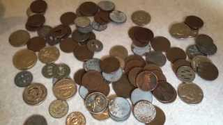 Coin Machine Pickups Part 1 - CRH returns yield old tokens, wheaties, silver and foreign coins