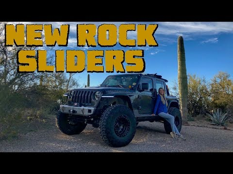 How To Install Motobilt Rock Sliders On a Jeep Wrangler JLU Rubicon!