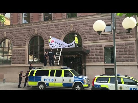 Polisinsats mot miljoaktivister