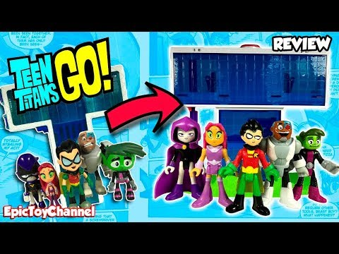 Teen Titans Go! Imaginext New T-Tower + Teen Titans Go! Collection with Robin Raven Cyborg Beast Boy