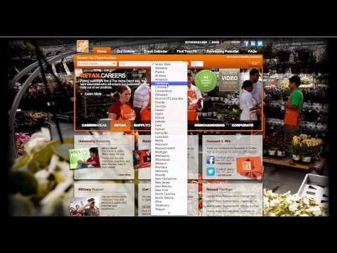 Submiting your Home depot application online