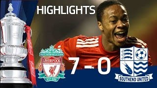 Raheem Sterling scores 5 goals - Liverpool 9-0 Southend, official Youth Cup highlights