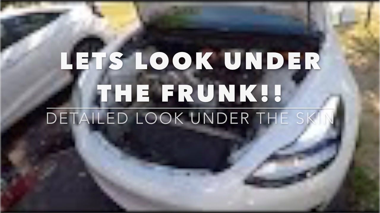 Whats under the Tesla Model 3 frunk? Lets take a look!