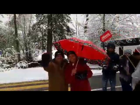 Heena Tours Guests Enjoying Snow Fall in Europe Tour.