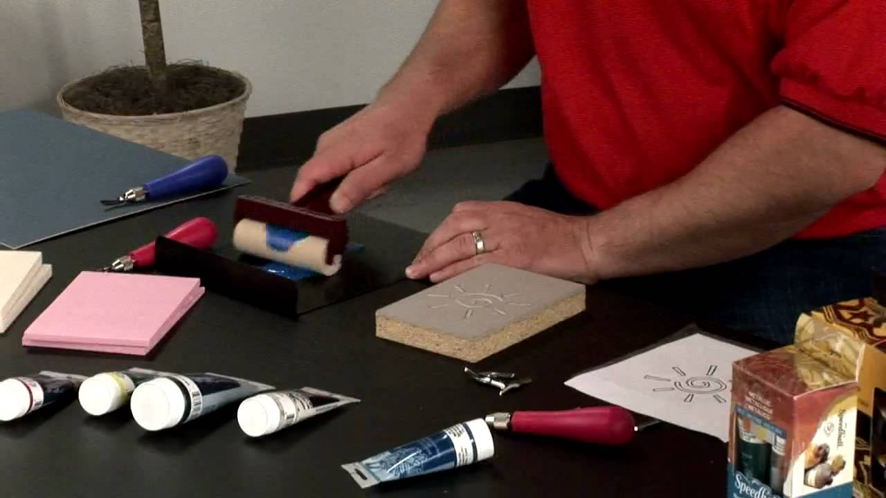 How To Use Speedball Block Printing Materials Youtube