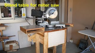 Stand table for miter saw