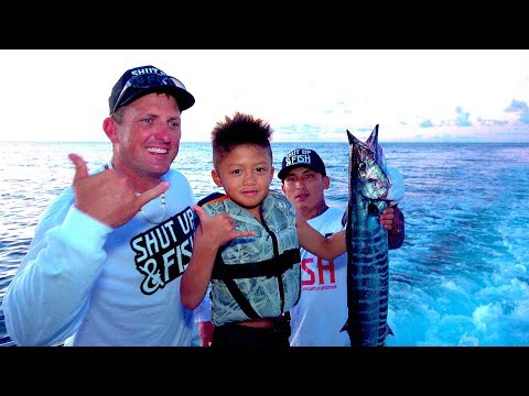 Wahoo In Guam!  {Catch Clean Cook} SHUT UP And FISH