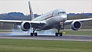 Close Up Arrivals at Manchester Airport, RWY05R | 12/04/19