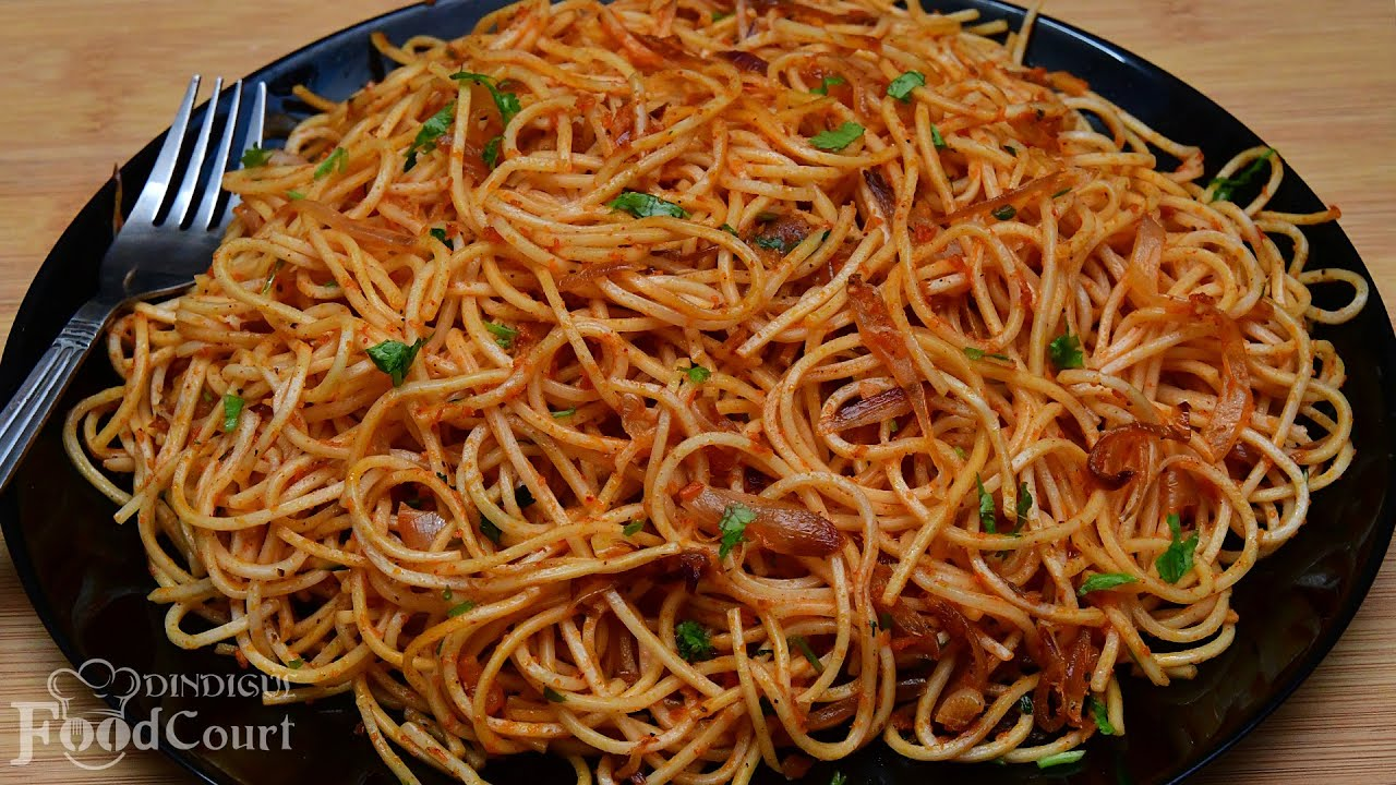 Spicy & Tasty Noodles without Sauce and Vegetables/ Noodles Recipe