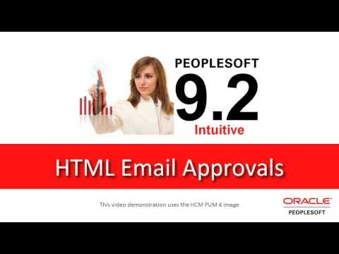 PeopleSoft 9 2 HTML Email Approvals