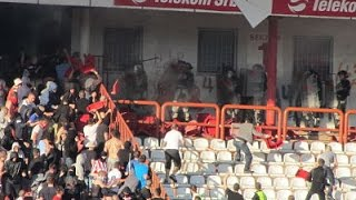 Fight before 148th Belgrade Derby between Delije Ultras and Police (148 derbi - 25th April 2015)