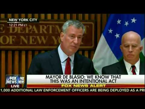 MAYOR BILL DE BLASIO UPDATES ON NYC WEEKEND BOMBING