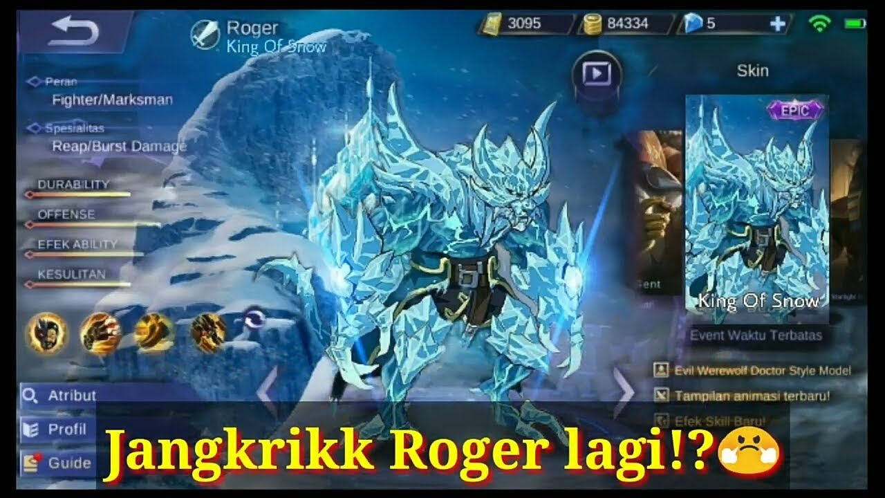 "SKIN BARU ROGER :"": ROGER LAGII COEGG"
