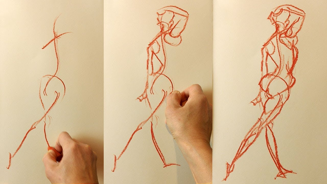 Beginner GESTURE Drawing (2 of 3) - How to Draw Expressively through  Powerful Exercises