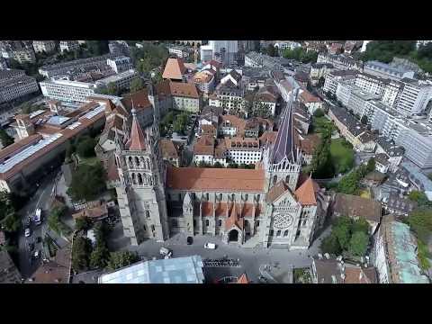Lusanne From The Air, Lausanne With Drone, Luftaufnahmen Luasanne, Aerial Video From Lausanne