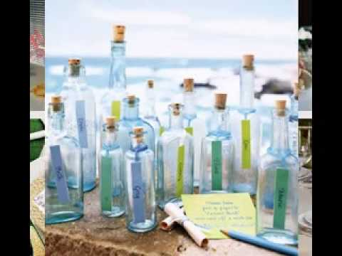 DIY Beach wedding table decorating ideas - YouTube