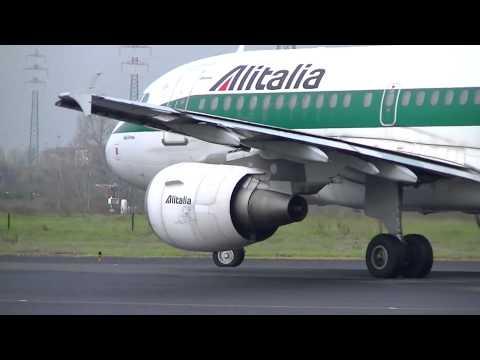 Decollo A319 Alitalia - Aeroporto di Firenze (HD)