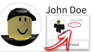 JOHN DOE IS ONLINE AT ROBLOX!