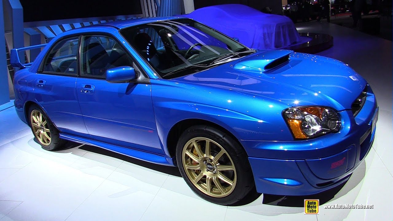 2003 subaru wrx sti exterior and interior walkaround detroit auto show 2019