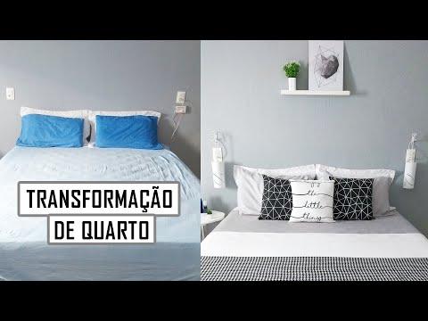 DIY | TRANSFORMAÇÃO DE QUARTO | DECORAÇÃO DE QUARTO | ESTILO PINTEREST | CAMA POSTA