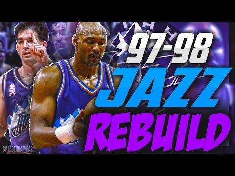 REBUILDING THE  '97 - '98 UTAH JAZZ!! EPIC MALONE AND STOCKTON DUO!! - NBA 2K17 MYLEAGUE