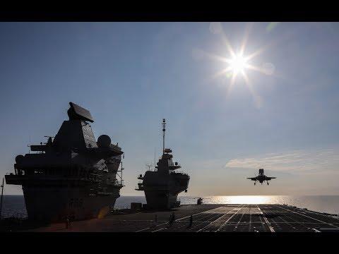 HMS Queen Elizabeth arrives home