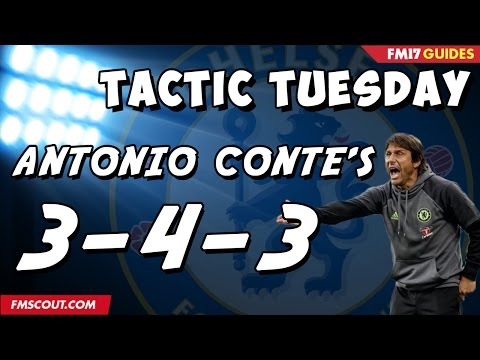 Tactic Tuesday - Antonio Conte's 3-4-3 In Football Manager 2017