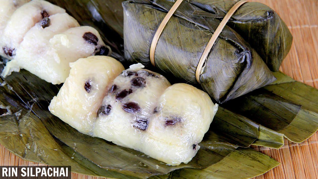 วิธีทำ ข้าวต้มมัด อร่อยหวานมัน   Khao Tom Mat (Coconut Rice with Banana Filling) Thai Audio