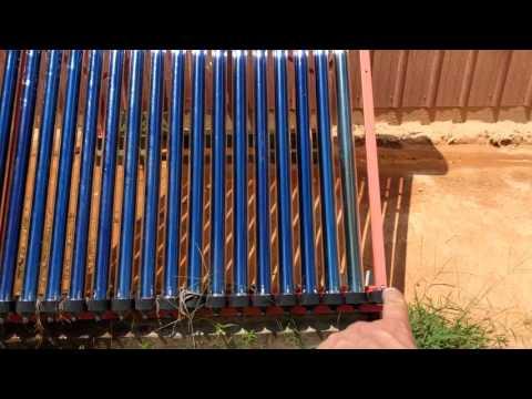 Evacuated tube solar water heater overheat