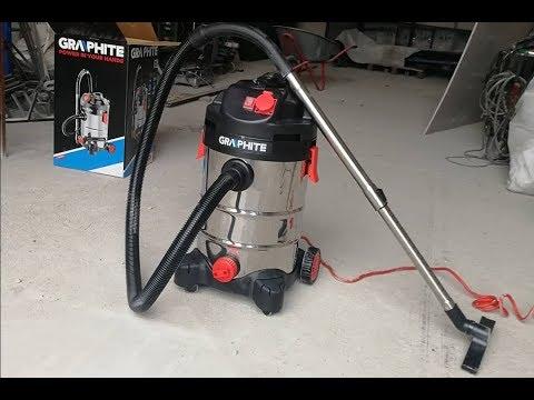 Обзор и тестирование промышленного пылесоса GRAPHITE 59G607