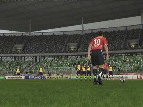 Hannover 96 - FC Arsenal London Freistoß Bruggink FIFA09 PS3