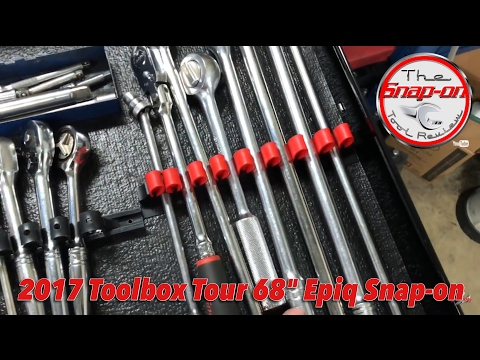 "68"" Snap-on Epiq Toolbox Tour! Must See!!!"