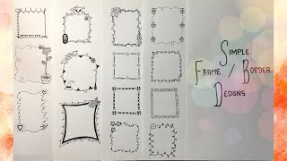 26 SIMPLE FRAME/BORDER DESIGNS | Wonder Kath